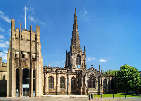Sheffield Cathedral                       Canvas Print by Darren Galpin