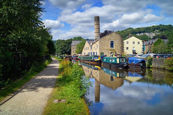 Rochdale Canal at Hebden Bridge                    Canvas Print by Darren Galpin