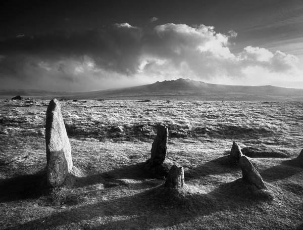 Merrivale Stone Rows Sunset  Canvas Print by Darren Galpin