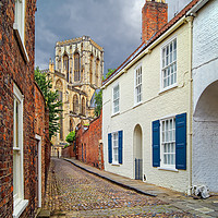 Buy canvas prints of Chapter House Street and York Minster              by Darren Galpin