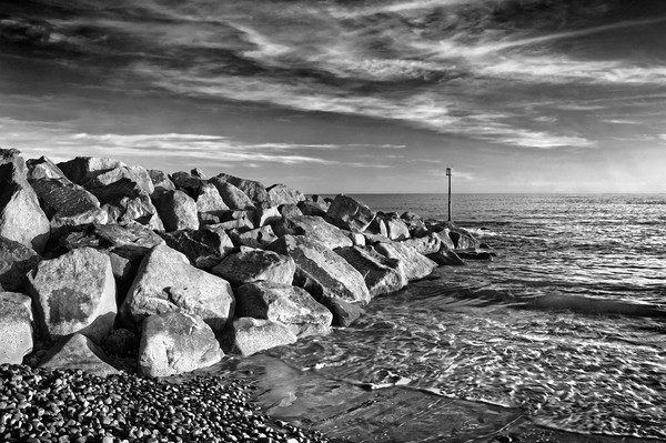Sidmouth Sea Defences                    Framed Mounted Print by Darren Galpin