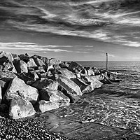Buy canvas prints of Sidmouth Sea Defences                    by Darren Galpin