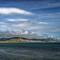 Buy canvas prints of Charmouth to Golden Cap                      by Darren Galpin