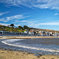 Buy canvas prints of Lyme Regis Beach and Seafront                      by Darren Galpin