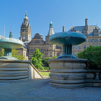 Buy canvas prints of Sheffield Town Hall & Entrance to Peace Gardens    by Darren Galpin
