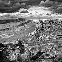 Buy canvas prints of Stanage Edge                        by Darren Galpin