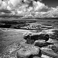 Buy canvas prints of Hope Valley from Stanage Edge                      by Darren Galpin