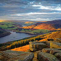 Buy canvas prints of Ladybower from Bamford Edge   by Darren Galpin