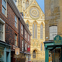 Buy canvas prints of York Minster from Minster Gates  by Darren Galpin