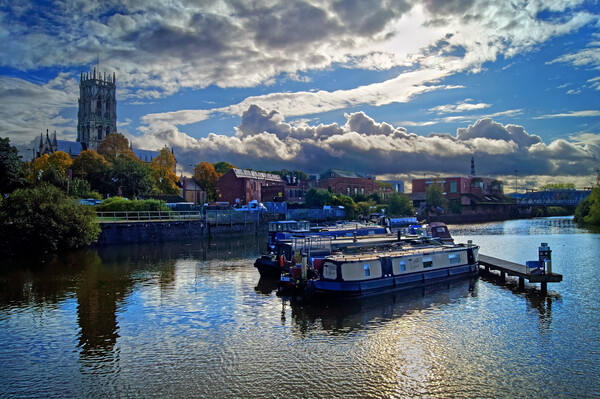 Doncaster Wharf and Minster  Canvas Print by Darren Galpin