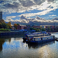 Buy canvas prints of Doncaster Wharf and Minster  by Darren Galpin