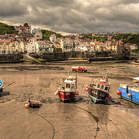 Buy canvas prints of Storm over Staithes by Darren Ball