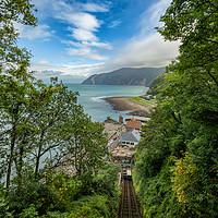 Buy canvas prints of Lynton Cliff Railway by Darren Ball