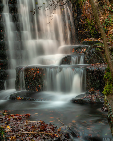 Lumsdale Waterfalls Canvas Print by Darren Ball