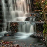 Buy canvas prints of Lumsdale Waterfalls by Darren Ball