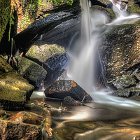 Buy canvas prints of Colourful Waterfall by Darren Ball