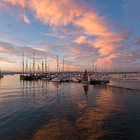 Buy canvas prints of brixham marina sunset by kevin murch