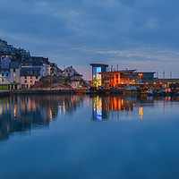 Buy canvas prints of brixham harbour  and fish market by kevin murch