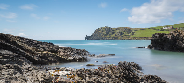 prawle point south west devon Canvas Print by kevin murch