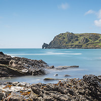 Buy canvas prints of prawle point south west devon by kevin murch