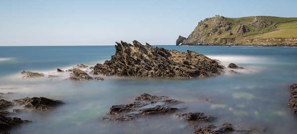 prawle point  long exposure Canvas Print by kevin murch