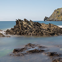 Buy canvas prints of prawle point  long exposure by kevin murch