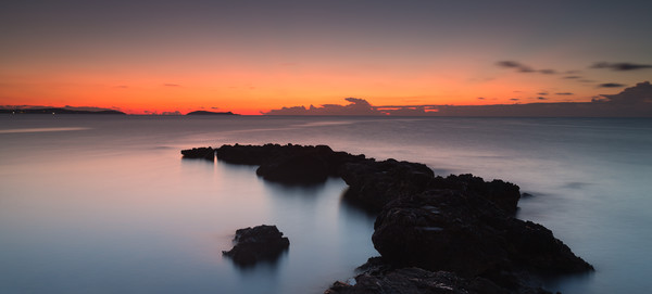ibiza sunrise . Canvas Print by kevin murch