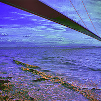 Buy canvas prints of humber Bridge by paul jenkinson