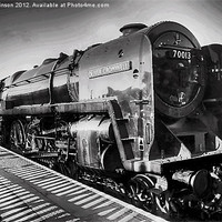 Buy canvas prints of Oliver Cromwell Locomotive by paul jenkinson