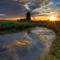 Buy canvas prints of Herringfleet smock mill by Paul Nichols