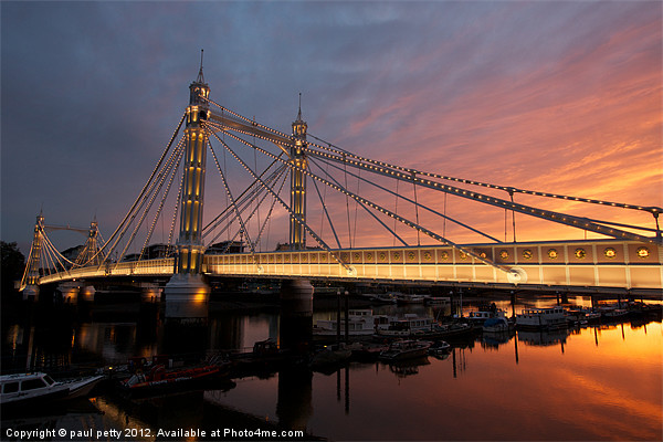 Albert Bridge Framed Print by paul petty