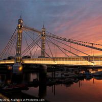 Buy canvas prints of Albert Bridge by paul petty