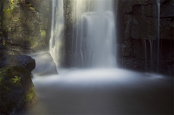 Lumsdale Falls Canvas print by Tracey Whitefoot