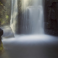 Buy canvas prints of Lumsdale Falls by Tracey Whitefoot