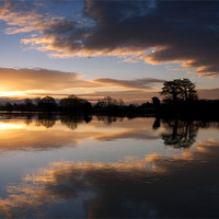 Buy canvas prints of Colwick Sunrise by Tracey Whitefoot