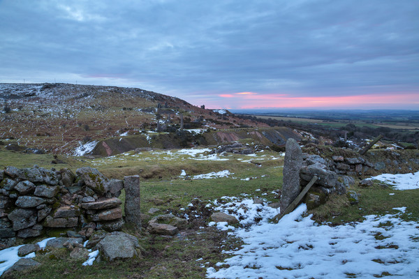 Winter on Bodmin Moor Canvas Print by Christopher Barnard