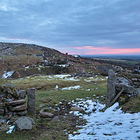 Buy canvas prints of Winter on Bodmin Moor by Christopher Barnard