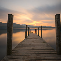 Buy canvas prints of Ashness Jetty Derwent Water by CHRIS BARNARD
