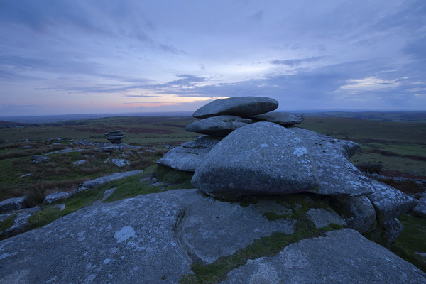 Sunset on Stowes Hill Bodmin Moor Canvas Print by CHRIS BARNARD