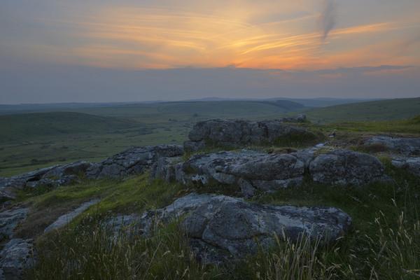 Bodmin Moor Sunset Canvas print by CHRIS BARNARD