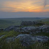 Buy canvas prints of Bodmin Moor Sunset by CHRIS BARNARD