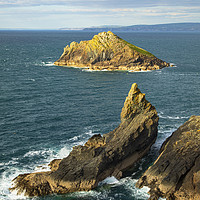 Buy canvas prints of Sevensouls Rock and Mouls Island by CHRIS BARNARD