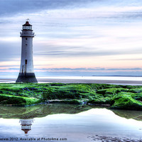 Buy canvas prints of Perch Rock Lighthouse by Pete Lawless