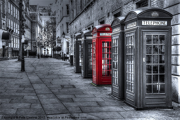 The Red Box Canvas print by Pete Lawless