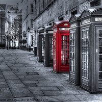 Buy canvas prints of The Red Box by Pete Lawless
