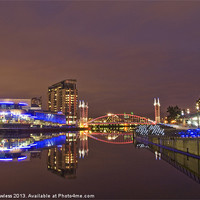 Buy canvas prints of Manchester at night by Pete Lawless