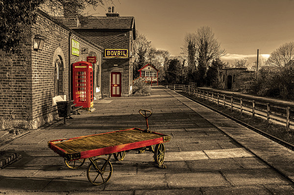 Hadlow Road disused Railway Station Canvas print by Pete Lawless