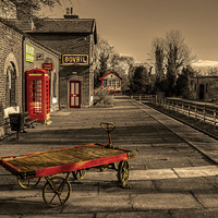 Buy canvas prints of  Hadlow Road disused Railway Station by Pete Lawless