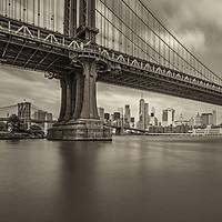 Buy canvas prints of Manhattan Bridge by Pete Lawless