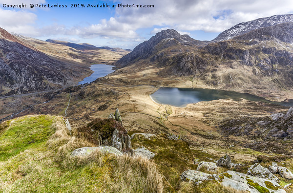 Ogwen Valley Canvas print by Pete Lawless